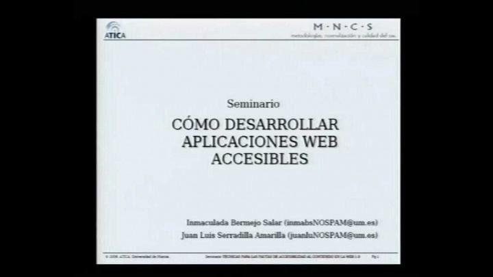 Cómo desarrollar aplicaciones web accesibles
