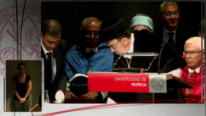 Intervención del Rector de la Universidad de Murcia