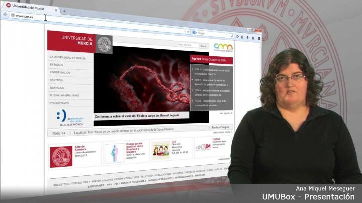 Presentación de UMUbox, nuevo disco personal en red de la UM