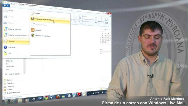 Firma de correo electrónico con Windows Mail