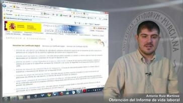 Obtencion Del Informe De Vida Laboral Tv Universidad De Murcia
