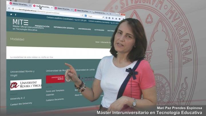 Máster Interuniversitario en Tecnología Educativa