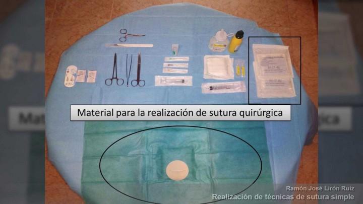 Realización de técnicas de sutura simple