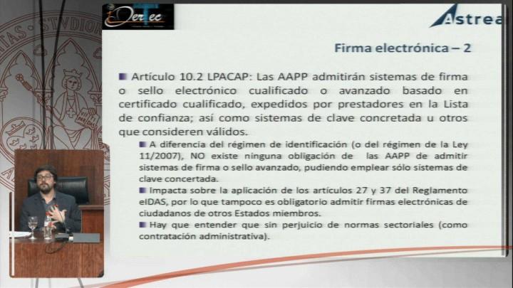 La identificación electrónica y la nueva regulación del sector público