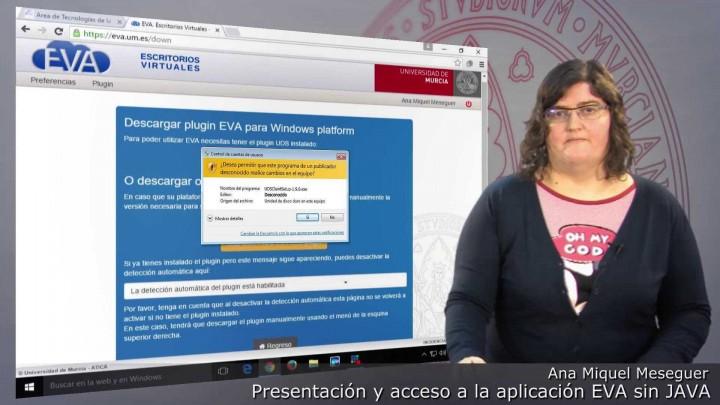 Presentación y acceso a la nueva versión de la aplicación EVA sin uso de Java