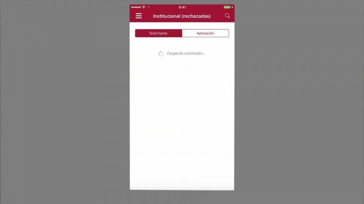 Consulta de solicitudes firmadas/rechazadas/anuladas/favoritas en un dispositivo iPhone