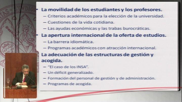 La internacionalización del sistema universitario español