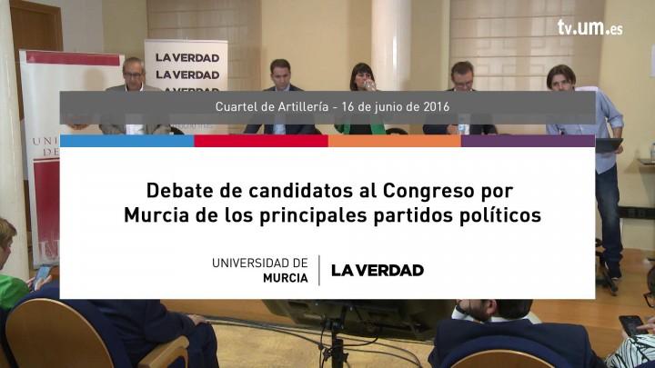 Debate de candidatos a Congreso por Murcia de los principales partidos políticos