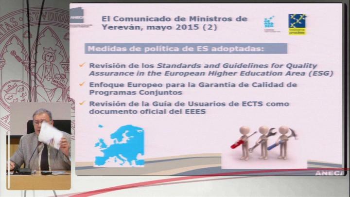 La agenda internacional de la Evaluación: los proyectos de ANECA