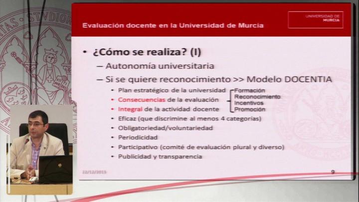 La acreditación de enseñanzas y evaluación del profesorado en la Universidad de Murcia