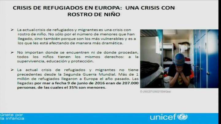 """Fuensanta Vivancos Serrano, UNICEF """"Niñas refugiadas, niñas migrantes. Las niñas y las niños prime"""