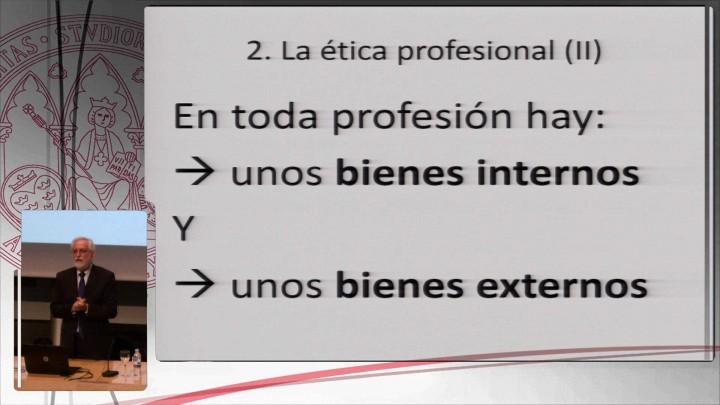 Conferencia: Comportamiento ético de un profesional. El código ético de la UMU