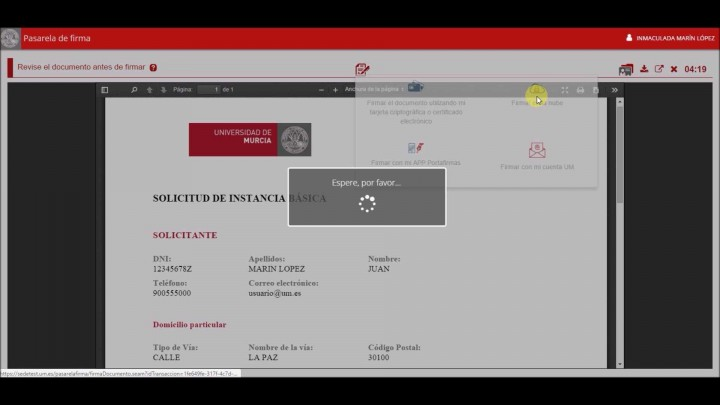 Firma con certificado en la nube