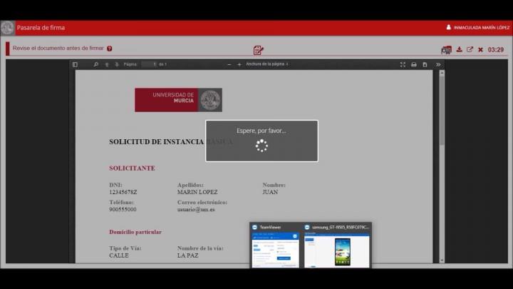 Firma con app Portafirmas