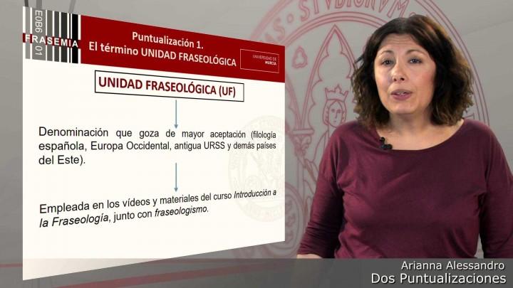 """Curso """"Introducción a la Fraseología"""": dos puntualizaciones"""