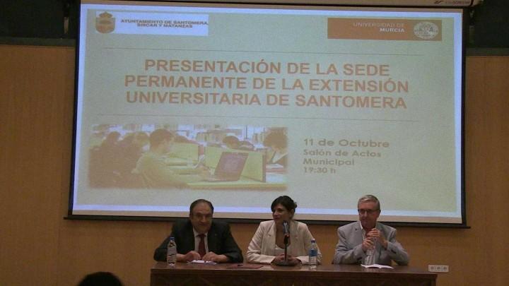 Inauguración de la sede de la UMU en Santomera