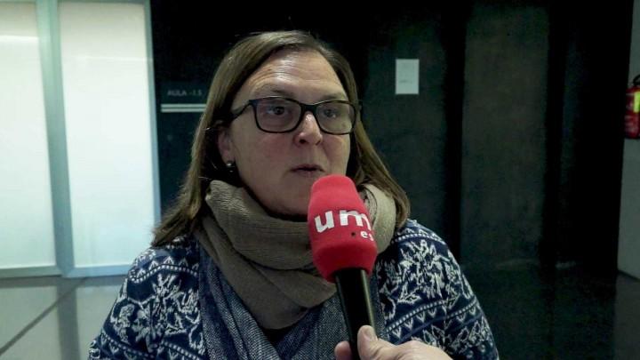 La responsable de Europe Direct Región de Murcia habla en la facultad de Ciencias del Trabajo de la UMU
