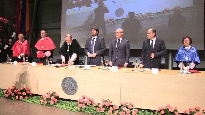 Tomás Fuertes ingresa en el cuadro de honor de la Universidad de Murcia