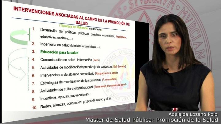 5. Tipos de intervenciones de Promoción de la Salud
