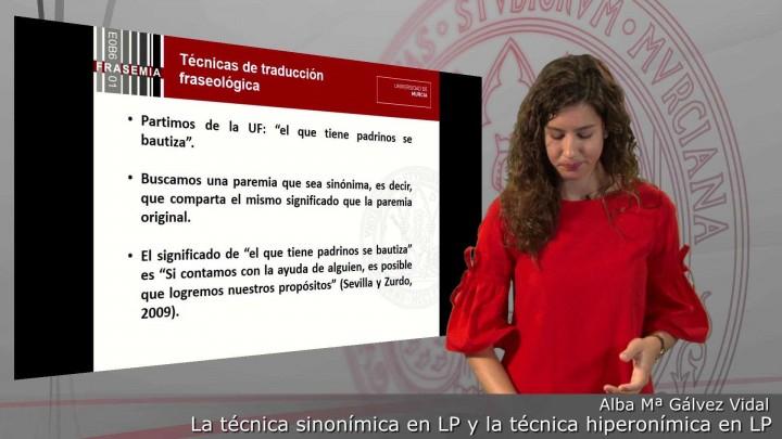 Técnicas de traducc. fraseol.: las técnicas sinonímica e hiperonímica en lengua de partida
