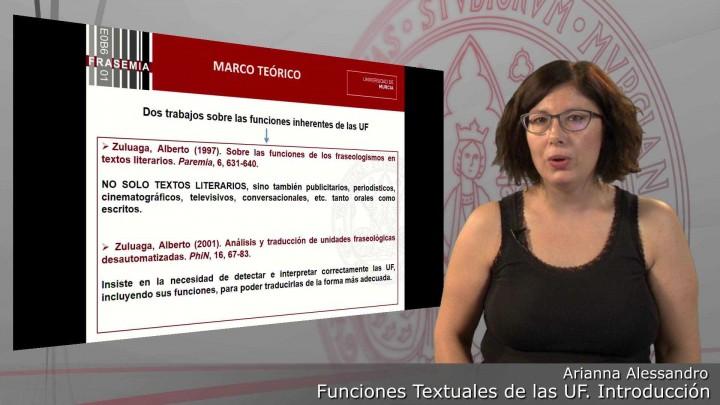 Funciones textuales de las UF. 1.Introducción