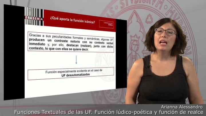 Funciones textuales de las UF. 4. Función lúdico-poética y función de realce