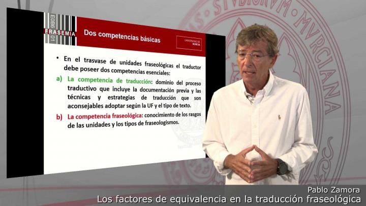 Los factores de equivalencia en la traducción fraseológica