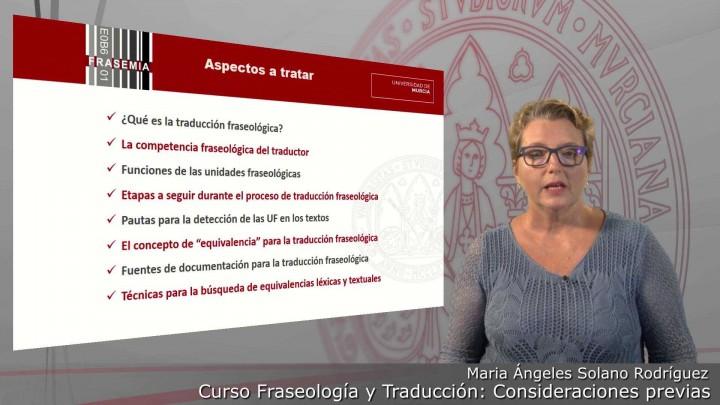 Curso FRASEOLOGÍA Y TRADUCCIÓN. Consideraciones previas