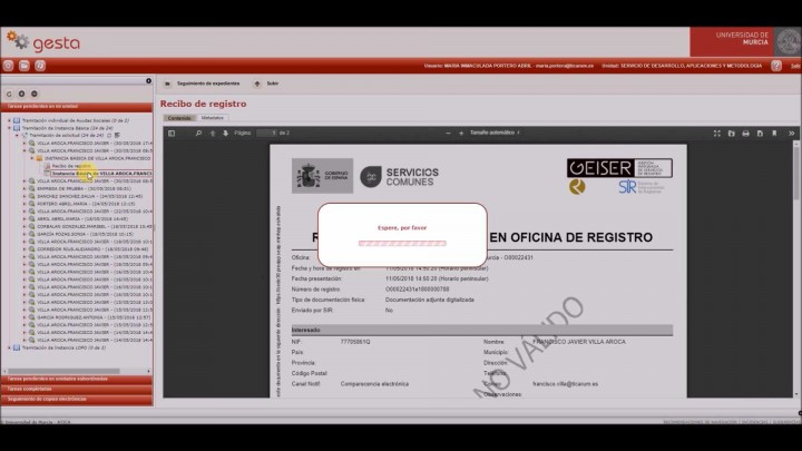 Videotutorial - Tramitación de solicitud de interesado desde GESTA