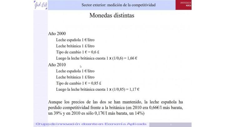 Grupo de innovación docente de Economía Aplicada. Competitividad-precios
