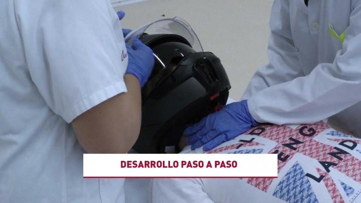Habilidades Médico Quirúrgicas. Retirada de casco con protección cervical