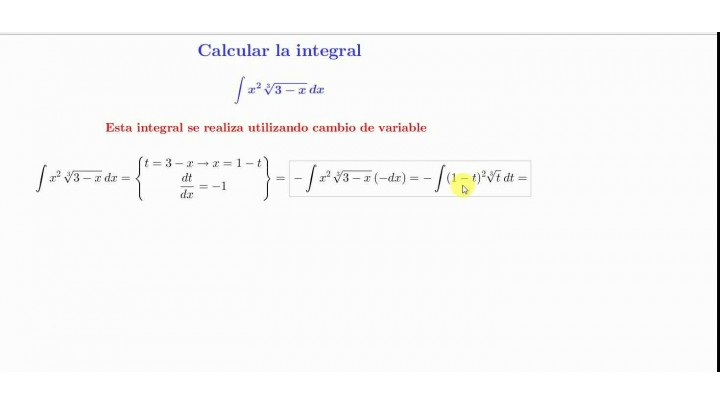 Integración-cambio de variable 1