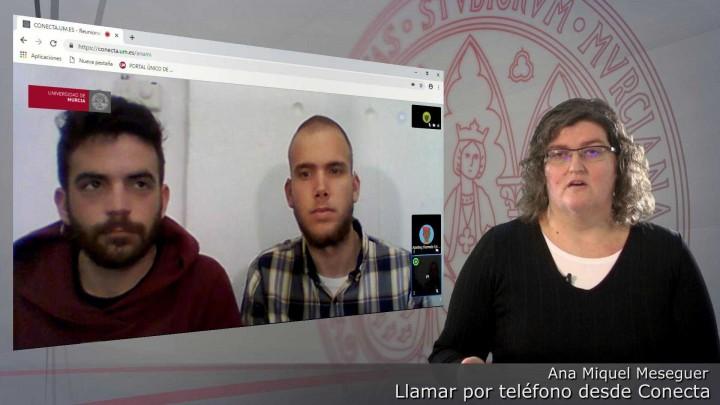 Conecta. LLamada extensión telefónica de la Universidad de Murcia