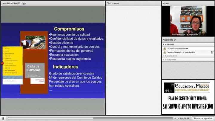 Videoconferencia informativa y de presentación del Servicio de Apoyo a la Investigación (SAI)