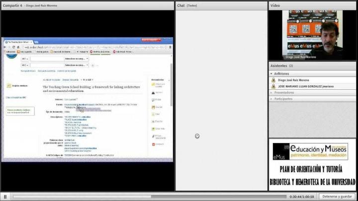 Videoconferencia informativa sobre la Biblioteca y la Hemeroteca de la UM