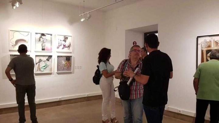 Inauguración exposición Personajes de corta y pega. Antonio García López