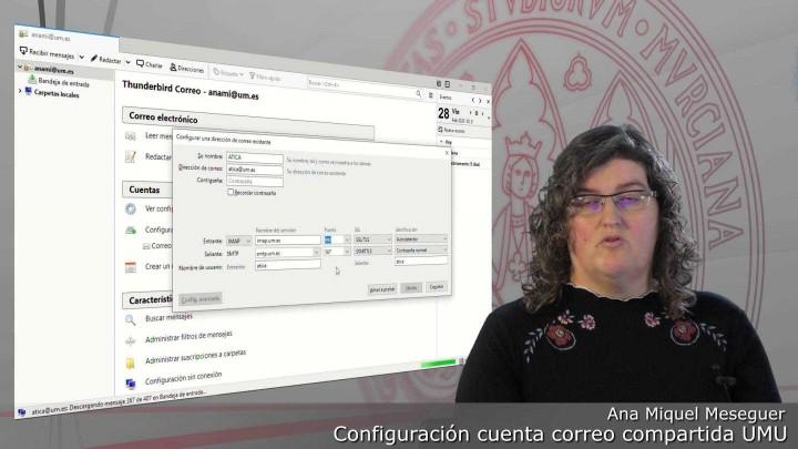 Configuración de la cuenta de correo electrónico compartida @um.es en gestor de correo Thunderbird