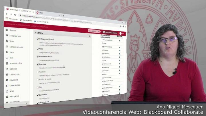 Presentación. Cómo activar la herramienta Videoconferencia en cada sitio del Aula Virtual
