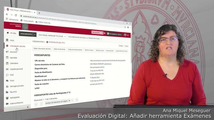 Cómo añadir la herramienta Exámenes del Aula Virtual