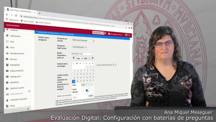 Configuración de un examen de batería de preguntas de forma aleatoria y con cláusula de veracidad