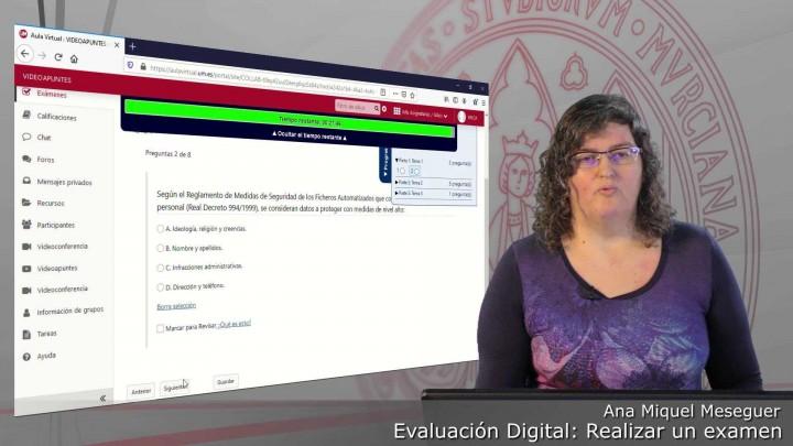Cómo realizar un examen de forma aleatoria como estudiante en Exámenes del Aula Virtual