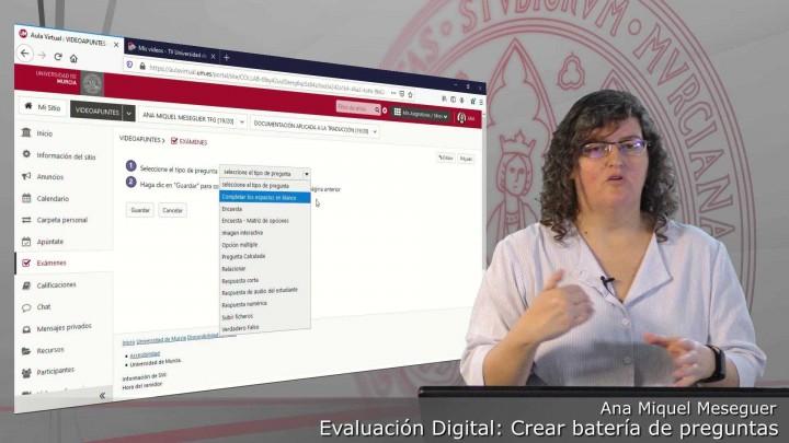 Crear baterías y sub-baterías de preguntas en la herramienta Exámenes del Aula Virtual