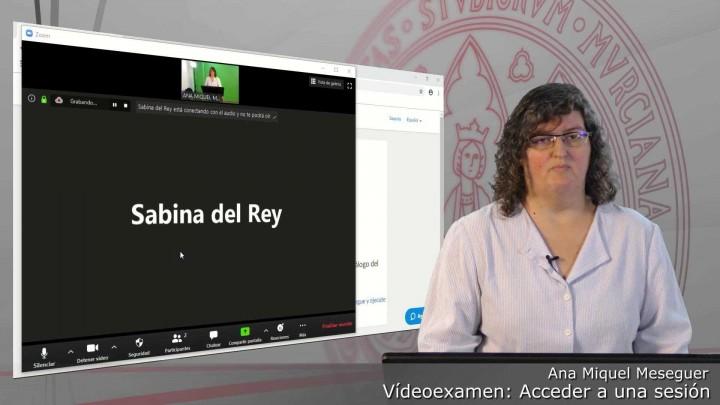Acceder a una sesión programada de Videoexamen
