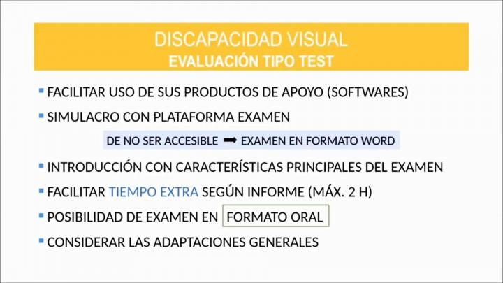 Orientaciones para alumnado con discapacidad visual, auditiva y/o sordoceguera