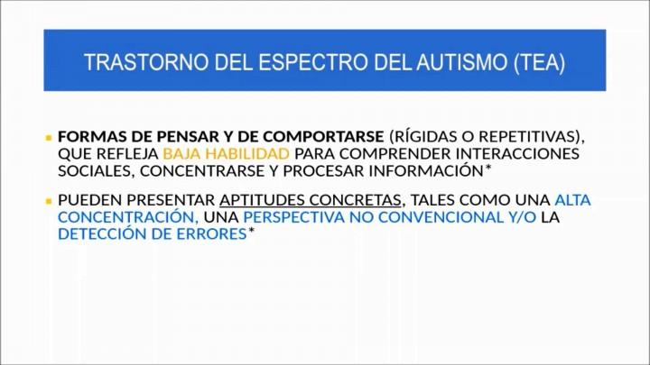 Orientaciones para alumnado con Trastorno del Espectro del Autismo (TEA)