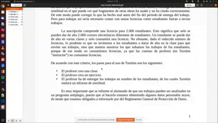 Seminario web sobre El sistema antiplagio de la Universidad de Murcia: TURNITIN