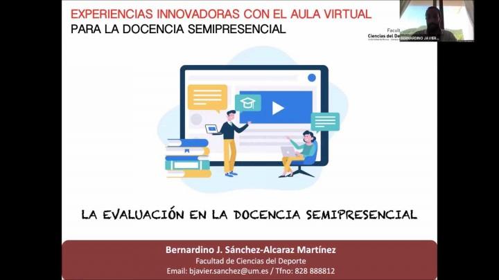 Experiencias innovadoras con Aula Virtual para docencia semipresencial.Facultad Ciencias del Deporte