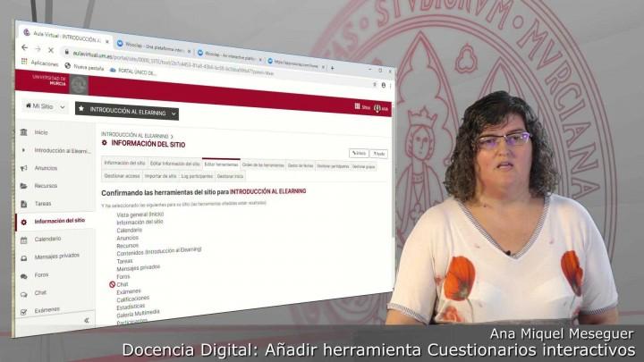 Cómo activar la herramienta Cuestionarios Interactivos Wooclap en cada sitio del Aula Virtual