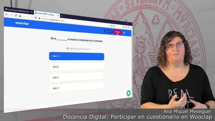 Cómo participar en un cuestionario interactivo en una presentación en clase como estudiante