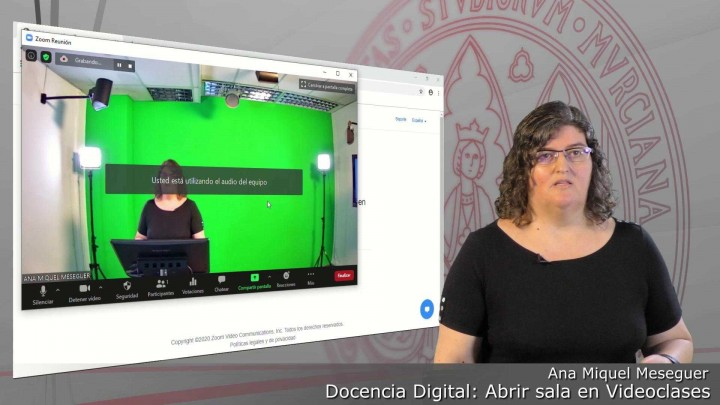 Cómo abrir una sala de Videoclases programada para grabar nuestra docencia